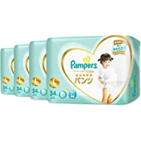 Pampers Premium Care Pants, Carton, Large, 34 Count, (Pack of 4)