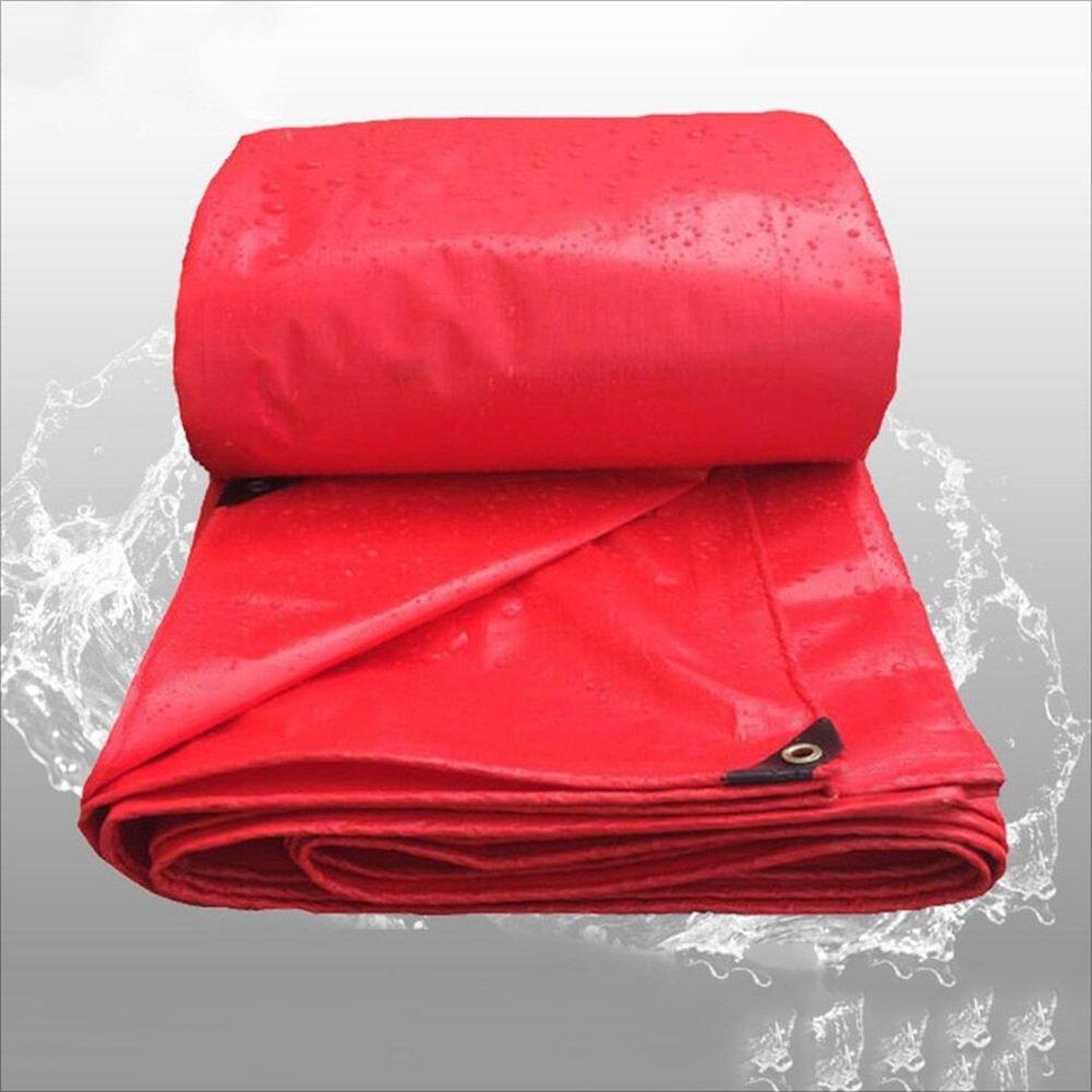 PENGFEI 赤 オーニング 防水 屋外 植物 日焼け止め シェーディング 貨物 防塵の 抗酸化、 厚さ0.24mm、 -260g / M2、 11サイズのオプション ( サイズ さいず : 4 x 6m ) 4 x 6m  B07C9RD8JD