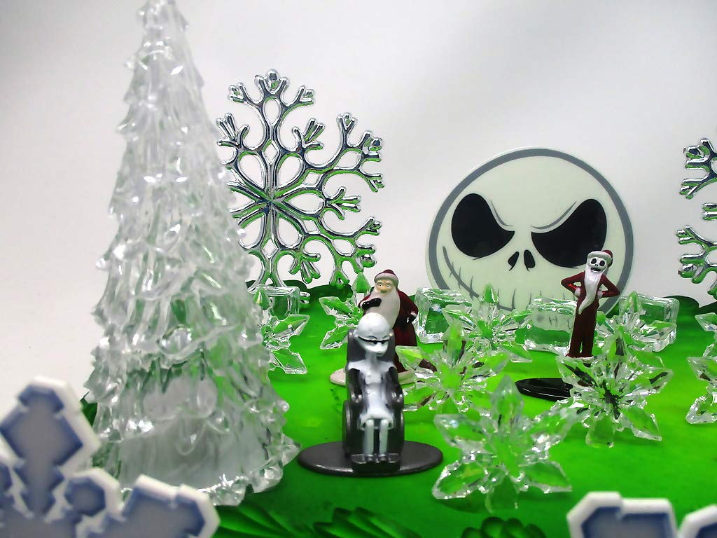 Nightmare Before Christmas Winter Wonderland Themed Birthday Cake Topper Set with Jack Skellington and Decorative Themed Accessories by Cake Topper (Image #2)