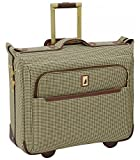 London Fog Cambridge II 44'' Wheeled Garment Bag, Olive Houndstooth