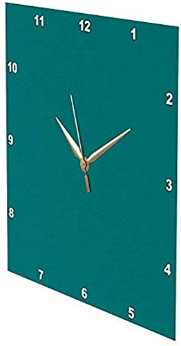 3dRose 3D Rose Cool Teal-Wall Clock, 15-inch DPP_31987_3