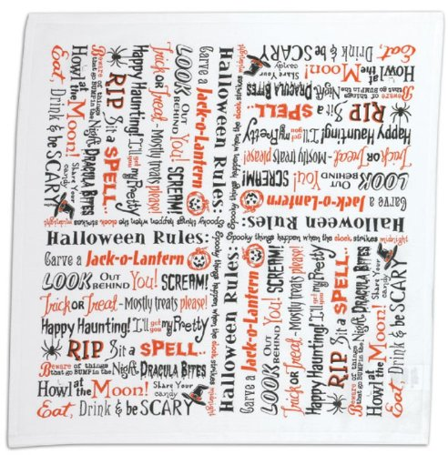 Kay Dee Halloween Rules Scream Be Scary RIP Howl Flour Sack Kitchen Dish Towel