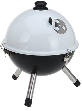 Pie O mesa parrilla barbacoa de carbón de barbacoa con tapa de la ...