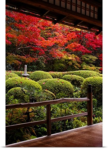 Great BIG Canvas Poster Print entitled Zen garden with mi...