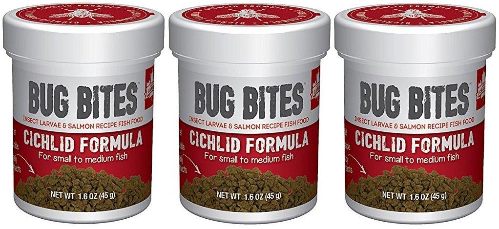 (3 Pack) Fluval Bug Bites Cichlid Formula for Small Medium Fish (1.6 oz. Per Bottle)