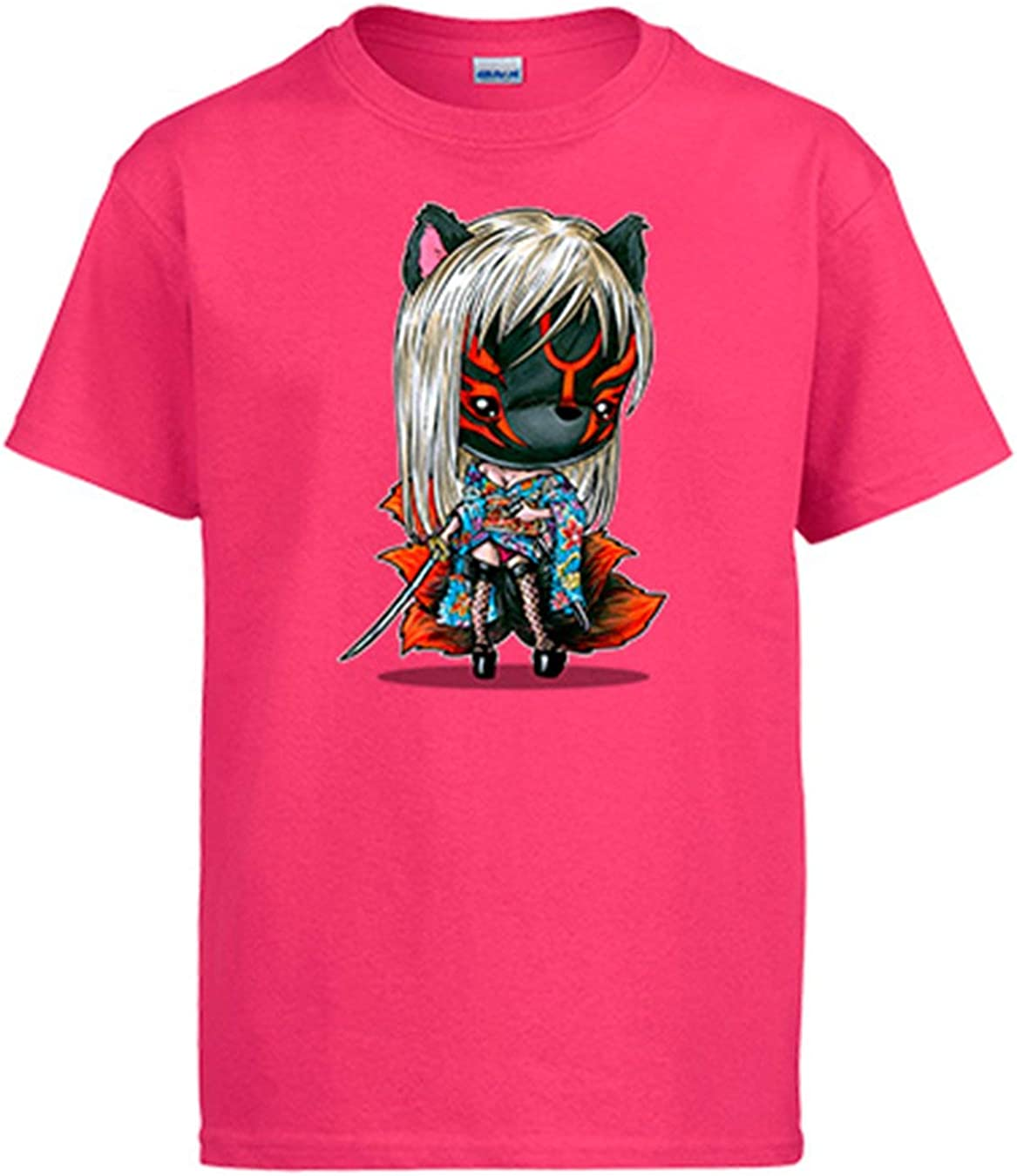 Diver Bebé Camiseta Chibi Kawaii Kitsune Version 2 Parodia de los Yokai Japoneses