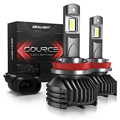 SEALIGHT H11 LED Headlight Bulbs, H8 H9 LED Headlight Bulb, Low Beam, 12,000 Lumens High Brightness, 6000K Cool White, S3 Series: Automotive