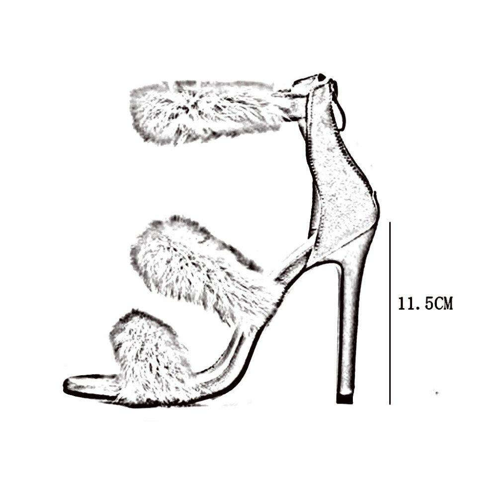 ZHRUI Pumps QA789 Frau Persönlichkeit Modisch Reißverschluss Hinten Sandalen Sandalen Sandalen High Heels Absatzhöhe 11,5 cm 35-40 3 Farben 1440a4