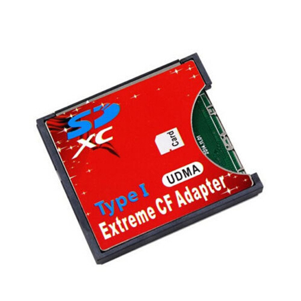 Saver Extreme Single SD MMC SDHC SDXC Slot To CF Type I Compact Flash Memory CF Card Adapter 365 Saver SDCF-Adapter