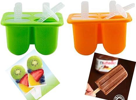 Chocolate Hielo Moldes Polos Ni/ños,Ice Lolly Moulds,Moldes para Helados Caseros,para Alimentos para Beb/és Paletas de Hielo Mini Molde de Silicona para Helado Helado