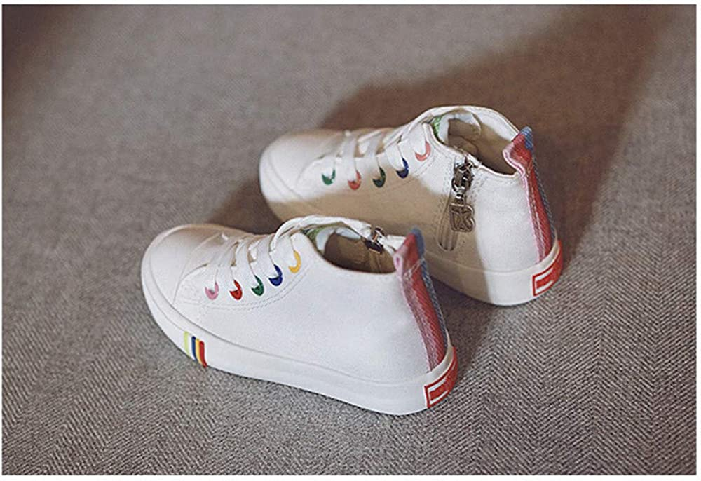 Toddler//Little Kid//Big Kid Fashion High-Top Canvas Sneakers Girls Boys Youth