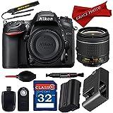 Nikon D7200 DX-format Digital SLR w/AF-P DX NIKKOR 18-55mm f/3.5-5.6G VR Lens + Deluxe Accessory Bundle …
