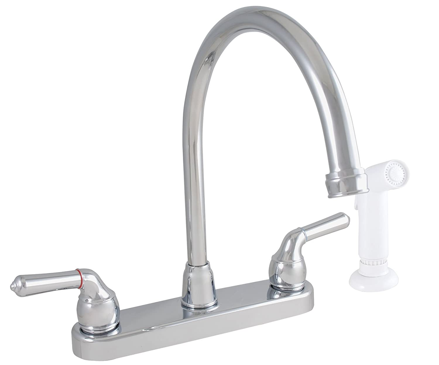 LDR 952 36425SS Exquisite Kitchen Faucet, Gooseneck Spout, Dual ...