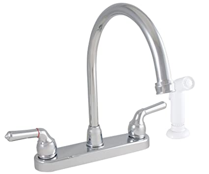 LDR 952 36425CP Exquisite Kitchen Faucet, Gooseneck, Dual Tulip ...