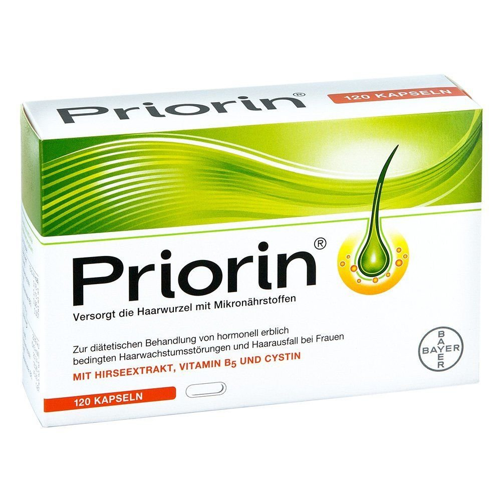 Bayer Priorin Anti Hair Loss Growth 120 Capsules/Box Treatment Hair