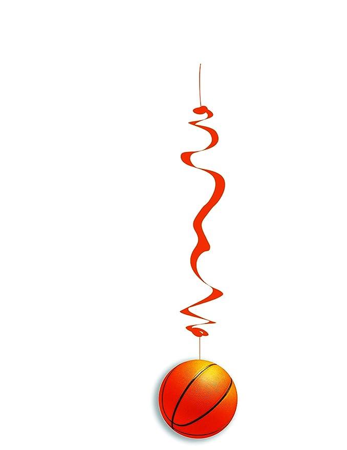 6 Decoraciones colgantes papel ignífugo baloncesto 80 cm: Amazon ...