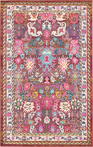 Unique Loom Medici Collection Traditional Vintage Abstract Multi Area Rug (5′ x 8′) Review