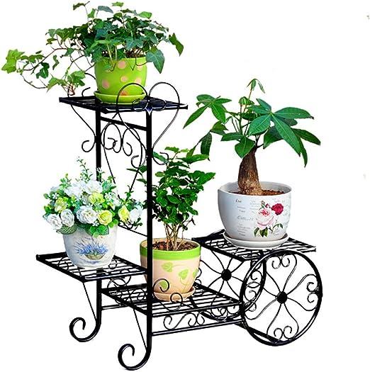 Estante de exhibición de la maceta, soporte decorativo de la ...