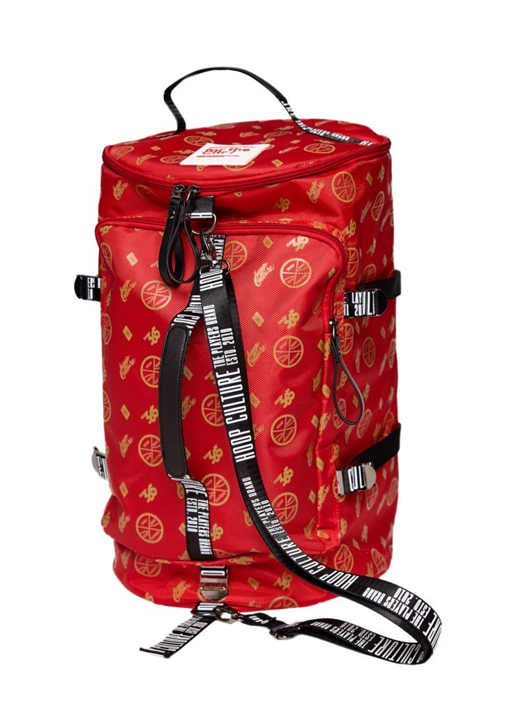 Hoop Culture - Men and Women Hoop Class MMX Duffle Travel Backpack Bag - Red