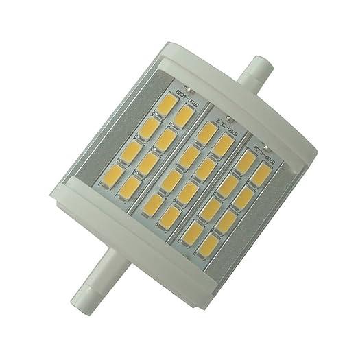 "qlee R7S LED bombilla 78 mm 3.1 ""regulable 10 W luz 6000 K AC"