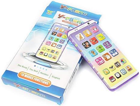 Smartphone Toy para niños, educativo multifuncional Juego de simulación Teléfono inteligente con puerto USB Pantalla táctil para niños Niños Bebés: Amazon.es: Bebé