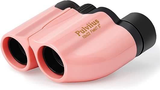 Binoculars for Kids Shockproof Waterproof High Resolution 10x22 Mini Compact Lightweight Binoculars for Bird Watching, Hiking, Camping - Birthday Presents - Best Gifts for Children (Pink)
