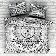 Exclusive Queen Size Ombre Mandala Duvet Cover With Pillowcases, Indian Donna Cover Set Boho Duvet Cover. Bohemian Bedspread