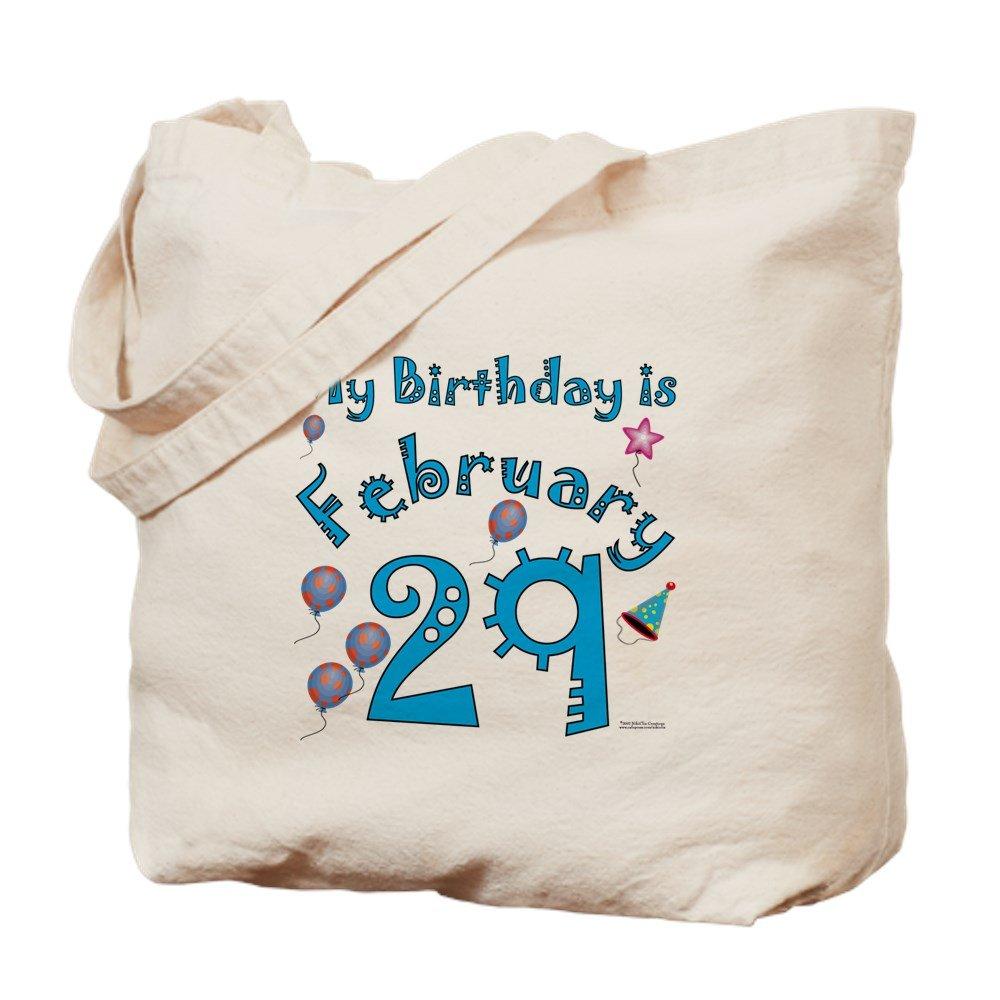 CafePress – 2月29日誕生日 – ナチュラルキャンバストートバッグ、布ショッピングバッグ B01JN9UZEY