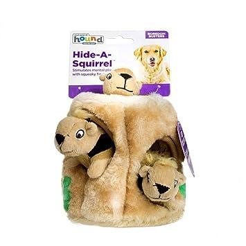 Juguete de peluche para perros, juguete duradero para mascotas Squeak, esconde un juguete interactivo