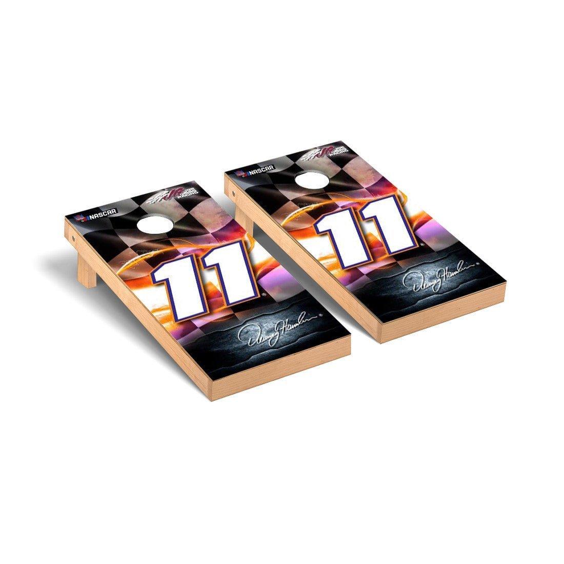 人気の春夏 NASCAR Denny Hamlin # 11デスクトップCornhole Game # Game Set Racing Flagバージョン Set B0752Y39BZ, カラークリエイト:0051c21e --- arianechie.dominiotemporario.com