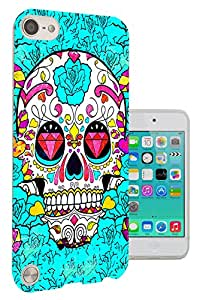 590 - Sugar Skull Skulls Multi tattoo Diamond eye Design Apple ipod Touch 5 Fashion Trend CASE Gel Rubber Silicone All Edges Protection Case Cover