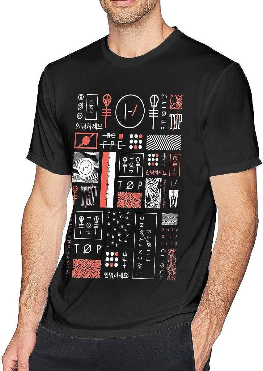 21 Blurryface Pilots O-Neck, Twenty-One Camiseta de Manga Corta para Hombre, Camiseta de algodón: Amazon.es: Ropa y accesorios