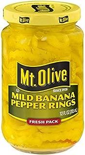 product image for MT. OLIVE Mild Banana Pepper Rings Jar, 12 oz
