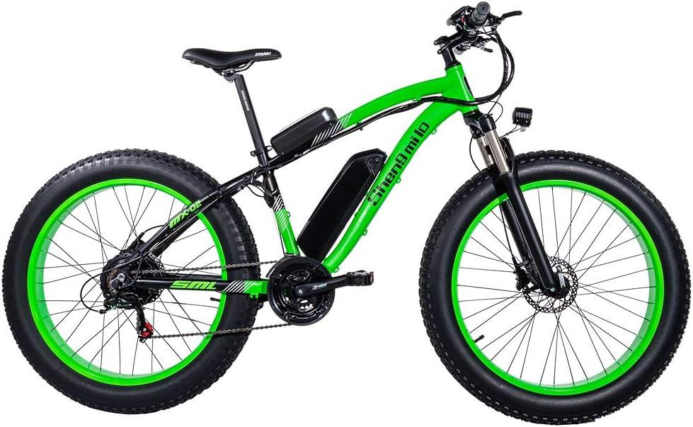 Bicicletas Electricas Neumaticos Bicicleta 26 Pulgada 500w 48V 17AH Bateria Litio Frenos de Disco Bicicleta