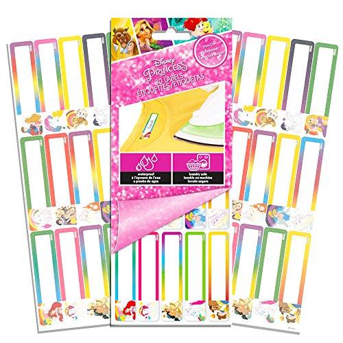 (Disney Princess Clothing Labels for Camp -- Pack of 30 Iron On Kids Clothing Labels (Summer Camp Supplies) (Disney Princess))