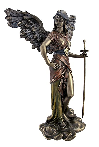 amazon com top collection 12 5 archangel st gabriel statue in cold