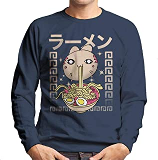 Cloud City 7 Hungry Cat with Ramen Men's Sweatshirt