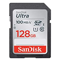 SanDisk 128GB Ultra SDXC UHS-I Memory Card - 100MB/s, C10, U1, Full HD, SD Card...