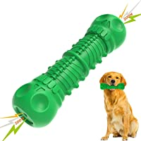 Tough Durable Dog Chew Toys, Squeaky Dog Toys for Medium Large Dogs Aggressive Chewers, Milk Flavor 100% Natural Rubber…
