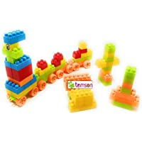 TEMSON Creative Multicolored Educational Learning Building Blocks for Kids with Wheel, Eye Sticker and Bag Packing Non-Toxic Building and Construction Blocks