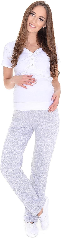 MijaCulture Maternity Pantalon de Yoga Confortable et d/écontract/é Homewear 3010