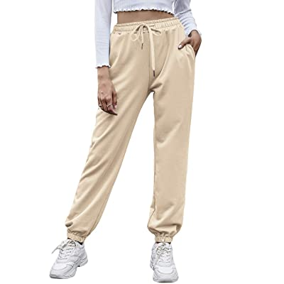 VALANDY Joggers for Women Workout Sweatpants Track Cuff Lounge Pants with Pockets for Running Yoga