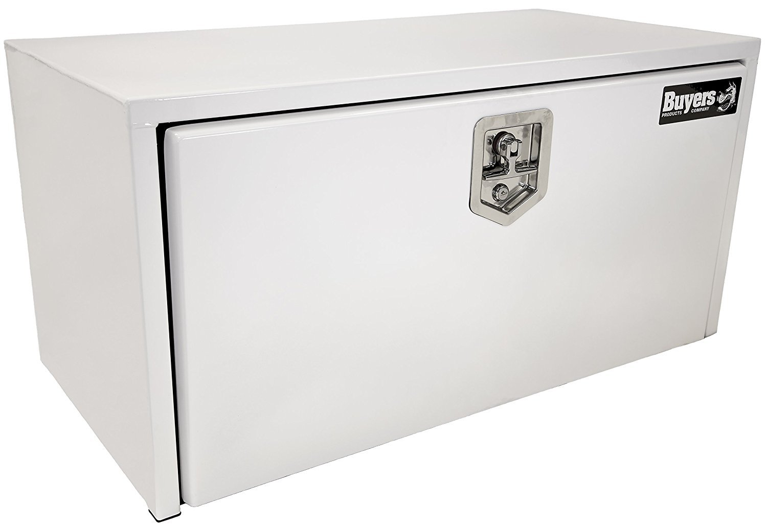 Buyers Products 1703405 White Steel Underbody Truck Box w/T-Handle Latch (14x16x36 Inch)