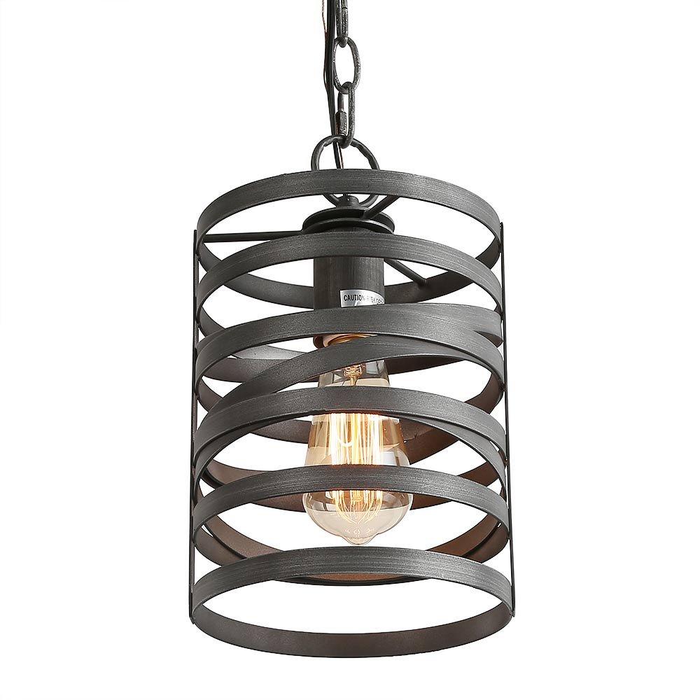 LNC 1-Light Pendant Lighting Iron Ceiling Hanging Lights