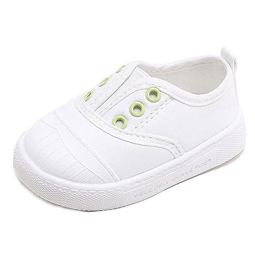 Unisex Zapatos para Bebé Niños Niñas Primeros Pasos Lona 0-18 Meses: Amazon.es: Zapatos y complementos