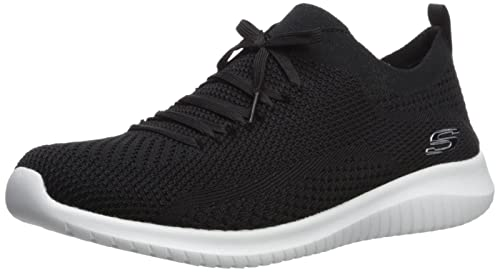 Skechers Ultra Flex Statements, Zapatillas sin Cordones para Mujer, Negro (Black/White BKW), 37 EU: Amazon.es: Zapatos y complementos