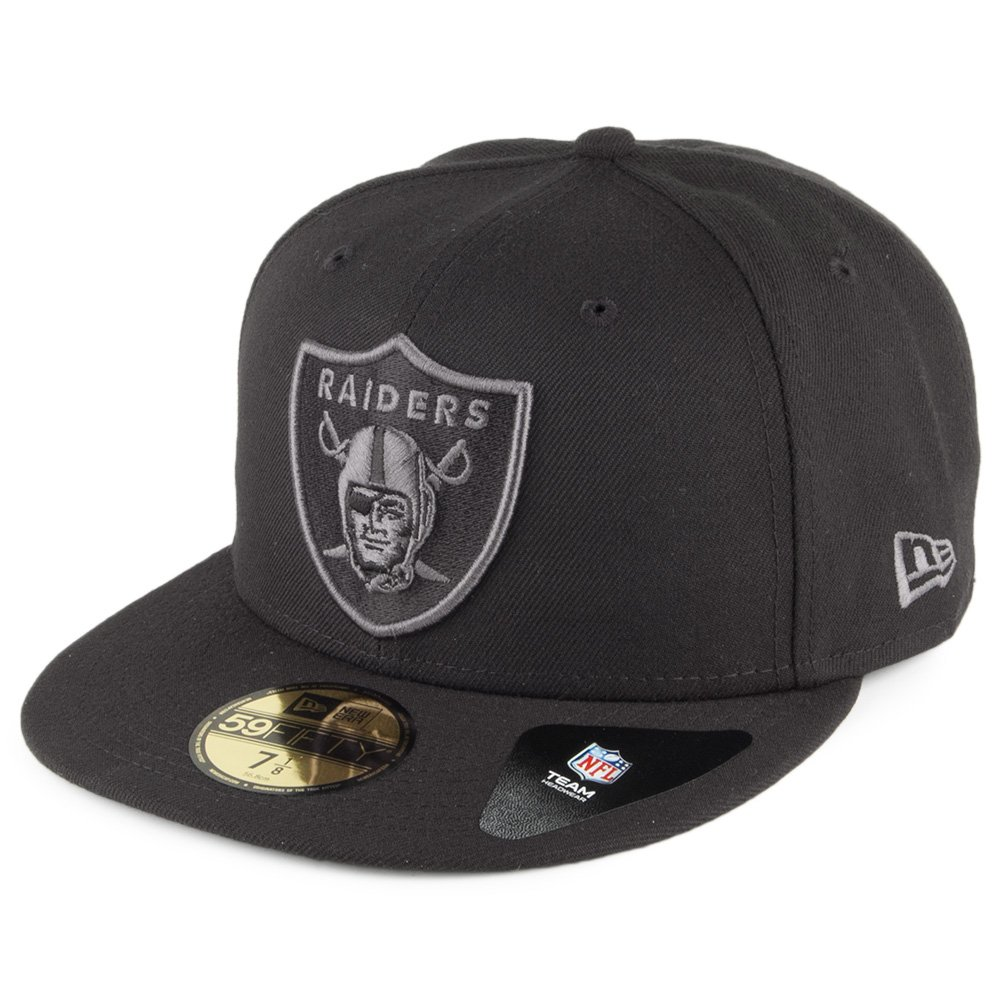 New Era 59 Fifty Oakland Raiders Fitted Hat ( Dark graphite-black ) NFLメンズキャップ 7.125  B01MYYDYEH