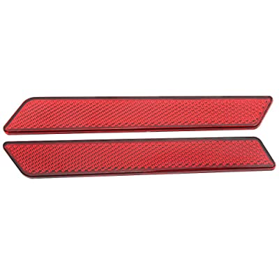 Red Reflectors Latch Covers Saddlebags Safety Side Visibility Reflecotor kit for Harley 2014-up: Automotive