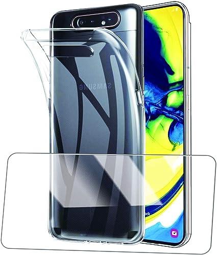 TEKXDD - Carcasa para Samsung Galaxy A80 (Protector de Pantalla de ...