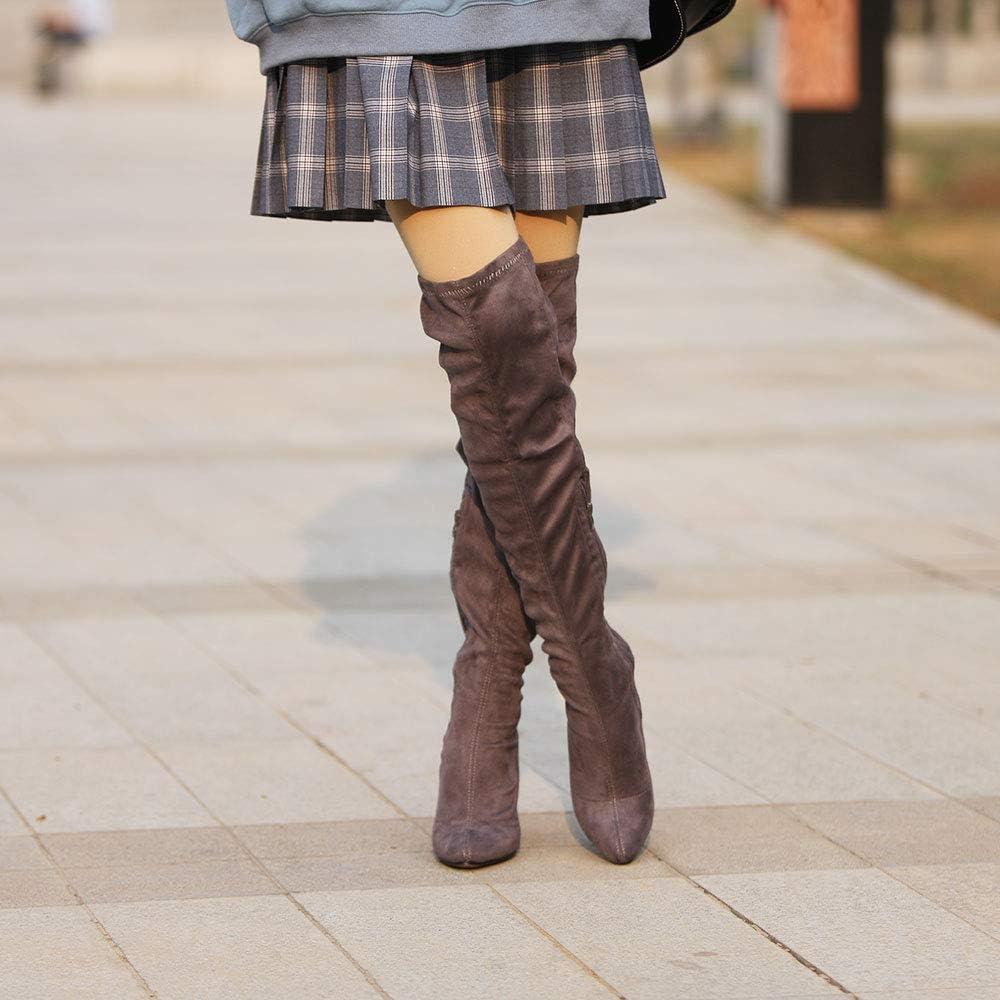 ShoBeautiful Women/'s Over The Knee Boots Fashion High Heel Knee High Winter Boots MC01